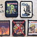 Used printed iron Maiden Patches