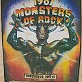 1987 Monsters of Rock backpatch