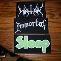Immortal,Watain and Sleeep DIY Pathche