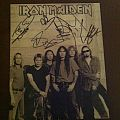 Other Collectable - Autographed Iron Maiden 8 x 10