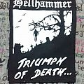 """Hellhammer - """"Triumph of Death"""" backpatch"""