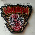 """Whiplash - """"Power and Pain"""" official woven patch"""