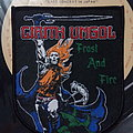 "Cirith Ungol - ""Frost And Fire"" shield woven patch"