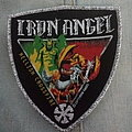 "Iron Angel - Patch - Iron Angel - ""Hellish Crossfire"" shield woven patch"