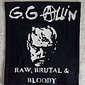 "GG Allin - ""Raw, Brutal & Bloody"" backpatch"