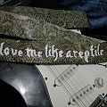 """""""Love Me Like A Reptile"""" DIY guitar strap Other Collectable"""