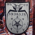 "Abigail - Patch - Abigail - ""Descending From a Blackend Sky"" official woven patch"