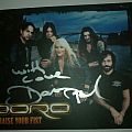 Doro card (signed) Other Collectable