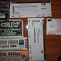 Some of my concert tickets.