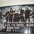 Dark Funeral - Tape / Vinyl / CD / Recording etc - Dark Funeral Live in Hong Kong poster + signed CD booklet