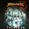 Megadeth - TShirt or Longsleeve - Megadeth Thirteen World Tour Asia Leg 2012 shirt + guitar pick