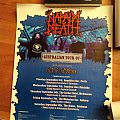 Napalm Death Australian tour 2007 poster signed by band