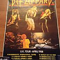 Def Leppard - Other Collectable - Def leppard poster UK LIVE 1988