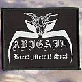 Abigail - Patch - Abigail 'Beer! Metal! Sex!' woven patch