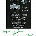 Other Collectable - Pegazus & Mortification show flyer