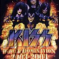 Kiss World Domination 2003 - 2004 tour shirt