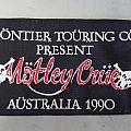 Motley Crue Australian Tour Patch 1990
