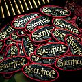 "official SACRIFICE ""Torment in Fire""  logo woven patch"