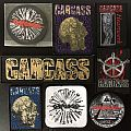 Carcass woven patches