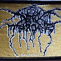 Darkthrone logo woven patch (gold version)