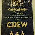 Carcass / Napalm Death 2015 Aus Tour AAA Pass  Other Collectable