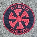 SPEED METAL SWIRL  embroidered patch