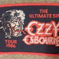 Ozzy Osbourne Ultimate Sin Tour 1986 patch