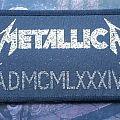 Metallica ADMCMLXXXIV strip (original) Patch