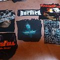 Home made back Paches, from old tshirts, Judas Priest, BP