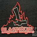 Official Blasphème shaped woven patch