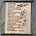 Y&T - Other Collectable - Y&T Setlist (Signed by the band)