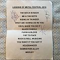 Bitch setlist (Legions of Metal, signed by the band)