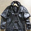 . - Battle Jacket - Black leather trench coat