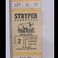 Stryper - Other Collectable - Unused concert ticket '87