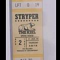 Unused concert ticket '87