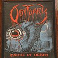 Obituary Rare Vintage rubber patch