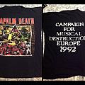 NAPALM DEATH og vintage shirt 1992 tour