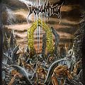 """Immolation - Battle Jacket - Immolation """"Here In After"""" hand painted leather jacket"""