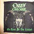 """Ozzy Osbourne - Patch - Ozzy Osbourne """"no rest for the wicked"""""""