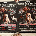 Dee Snider 2019 signed tour posters Other Collectable