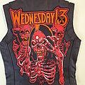 Wednesday 13 leather vest ( DIY) Battle Jacket