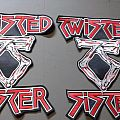 Twisted Sister shaped back patch