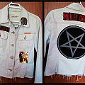 Shout At the Devil white denim jacket