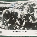 Destruction - Other Collectable - Destruction promo picture and fan club info and letter from 1988
