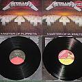 Metallica - Tape / Vinyl / CD / Recording etc - Metallica master of puppets 2 different vinyl versions