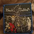 Black sabbath live evil vintage blue border patch