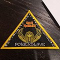 Iron Maiden - Patch - Iron maiden powerslave yellow bootleg triangle
