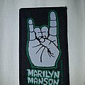 Marilyn Manson - Patch - Marilyn manson horns vintage patch