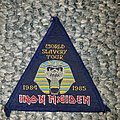Iron Maiden - Patch - Iron maiden world slavery tour original patch