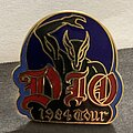 Dio - Pin / Badge - Dio - Holy Diver 1984 Tour Pin (with photo/backstage pass copy)